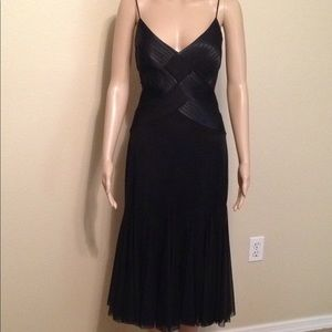 NWT Cache black mesh cocktail dress, size 8